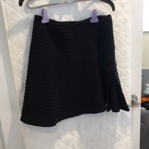 NWT theory black ribbed skirt size 8